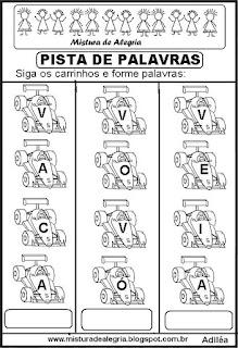 Formando palavras com a letra V