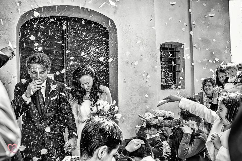 matrimonio di Alessia e fabio lancio del riso