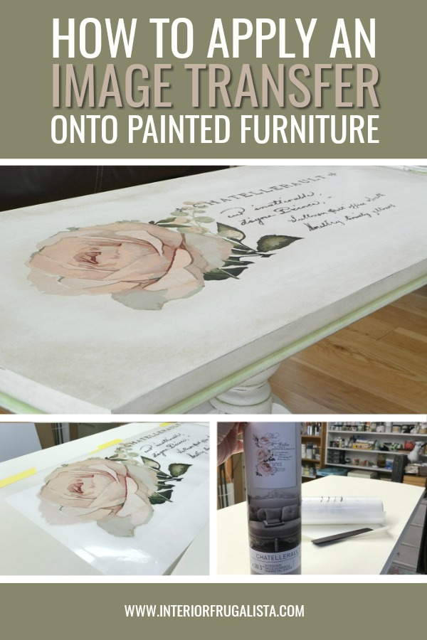 How To Add Furniture Transfers Onto Painted Furniture