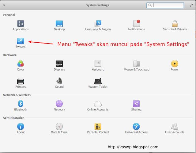 elementary os tweak tools, cara instal tweak tool elementary os