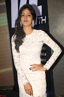 Chandini Chowdary in white Tight dress at Shamanthakamani pre release function ~  Exclusive 045.JPG