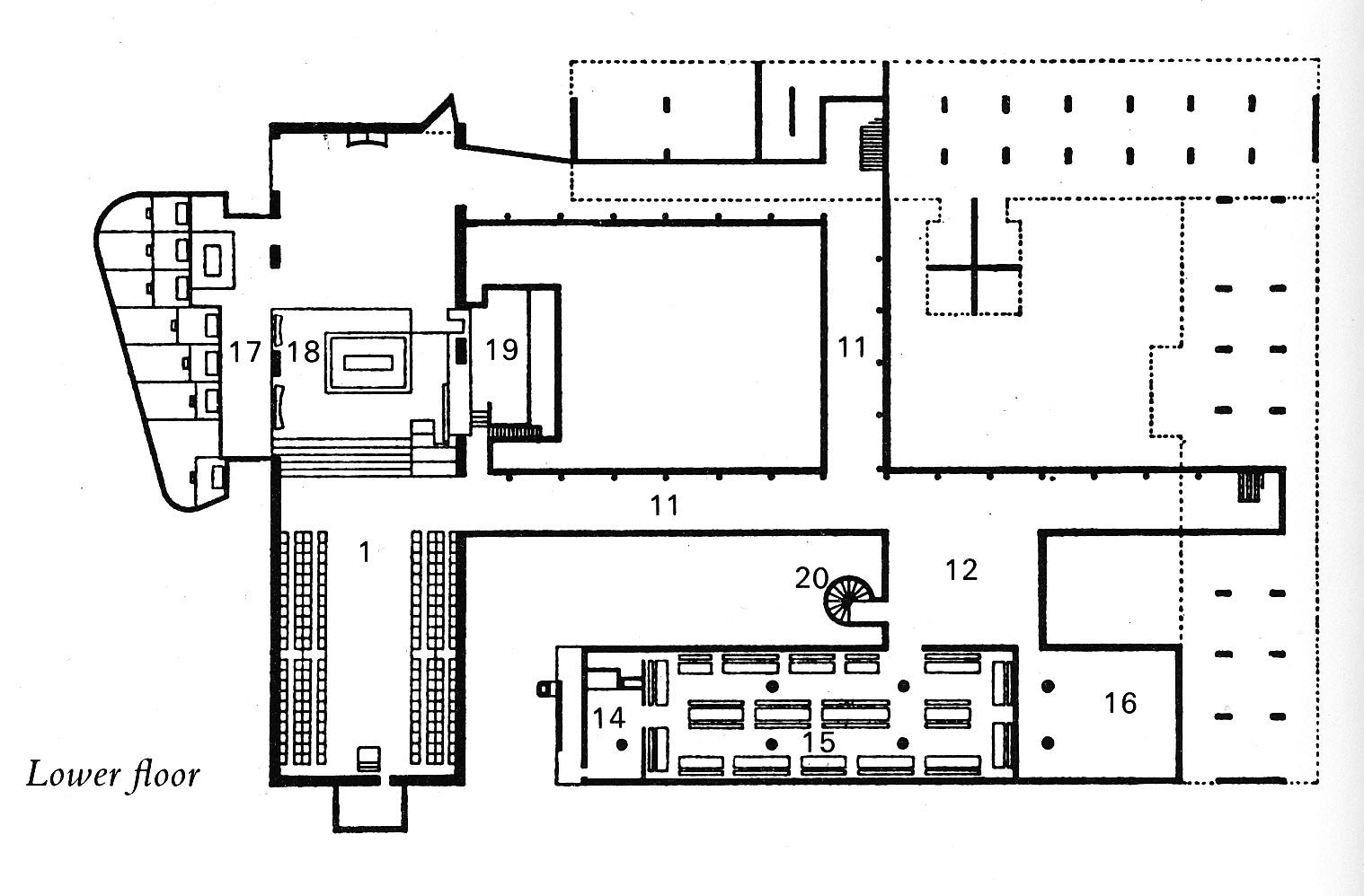 Floor Plans With Courtyard Voussoirs Corbusier Renaissance Man