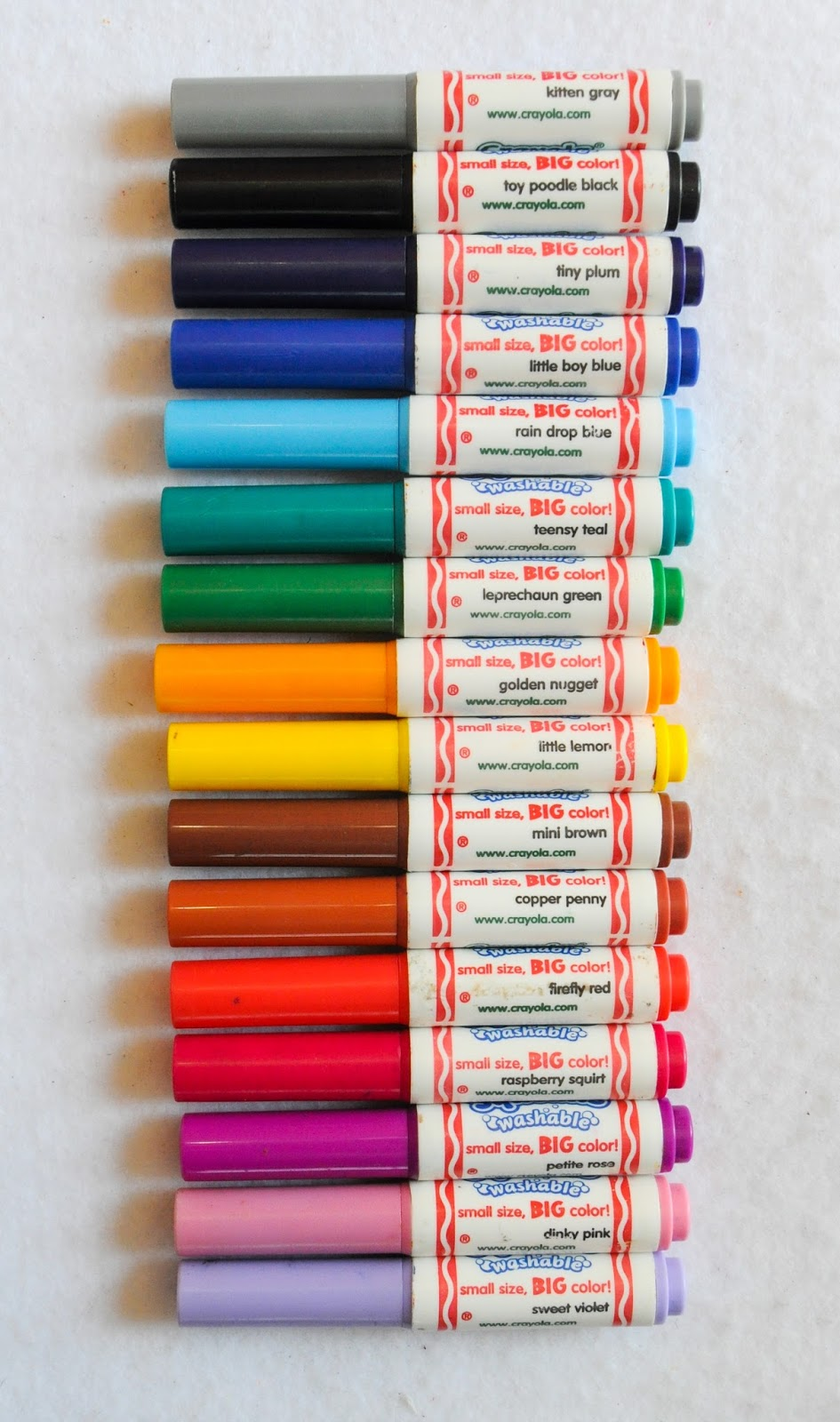 16 Count Crayola Pip-Squeaks Markers: What's Inside the