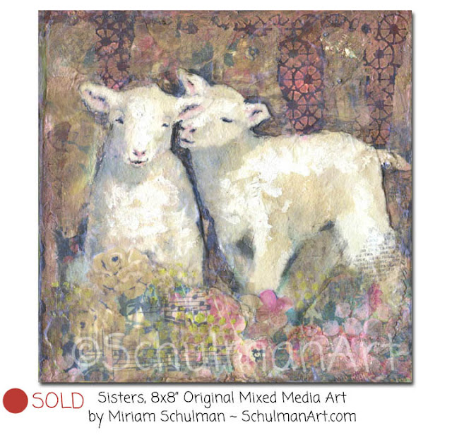 lamb art | sheep art | lamb painting | sheep painting