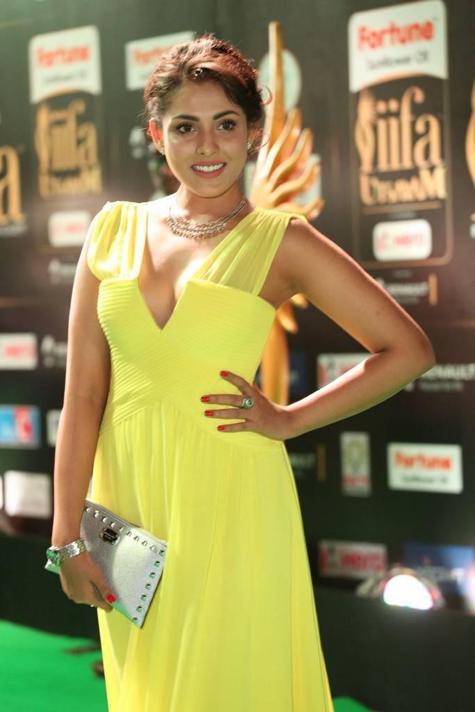 Tollywood Actress Madhu Shalini At IIFA Awards 2017 In Yellow Dress