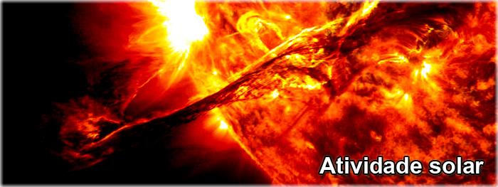 grandes manchas solares de frente com a Terra
