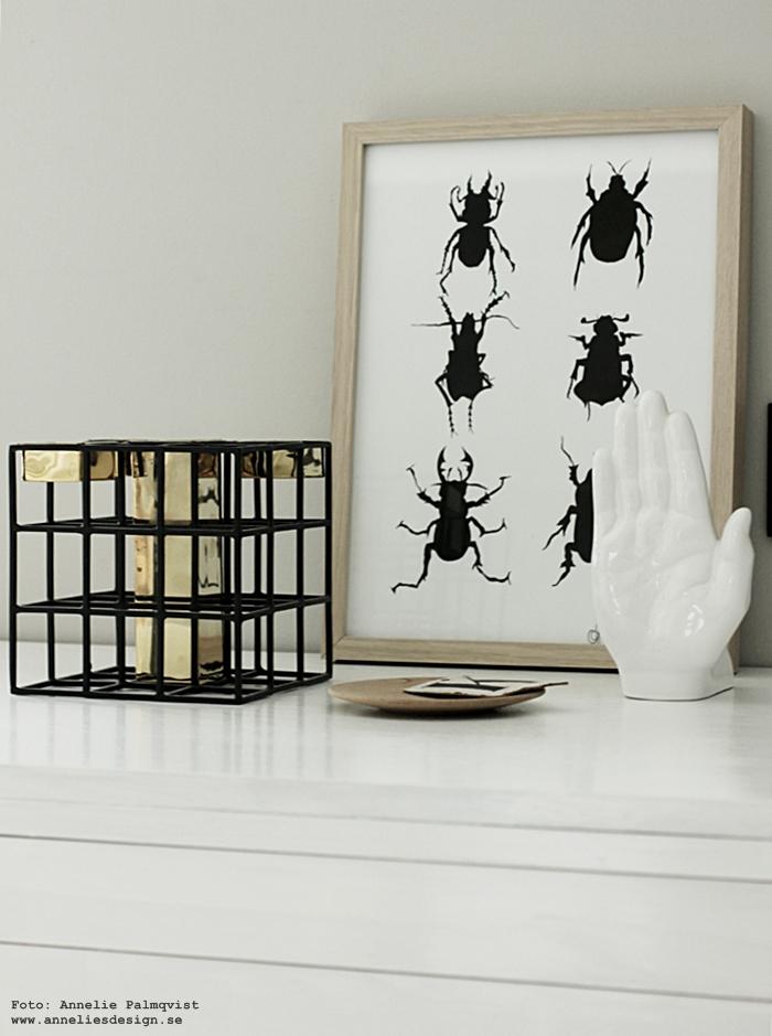 ljusstake, värmeljus, ljusstakar, annelies design, webbutik, webbutiker, webshop, nätbutik, nätbutiker, konsttryck, skalbagge, skalbaggar, poster, posters, print, prints, svart och vitt, svartvit, svartvita, svartvitt, tavla, tavlor, ateljé, arbetsrum,