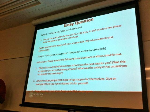 Cornell johnson 2012 essay questions