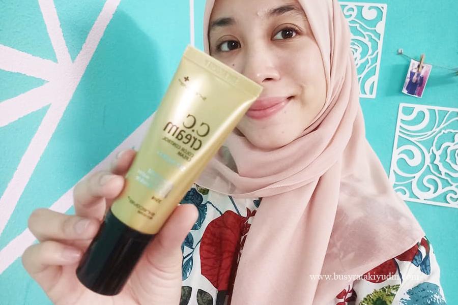 hansaegee nature gold nano cc cream, waterproof cream, mineral water, nano gold, krim muka, beauty review,