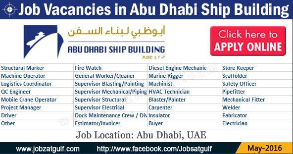 Various Job Vacancies in Abu Dhabi Ship Building ...