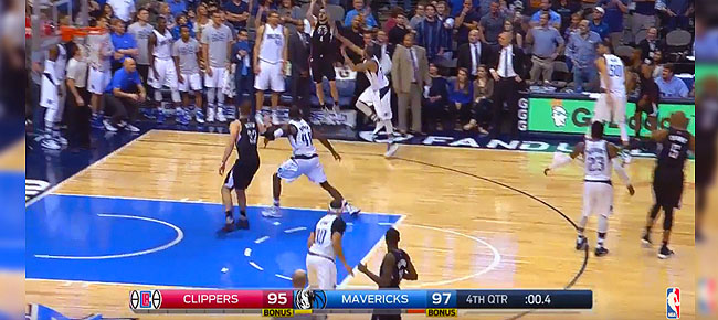 Last Minutes of Clippers and Mavs THRILLING 4th Quarter! (VIDEO)