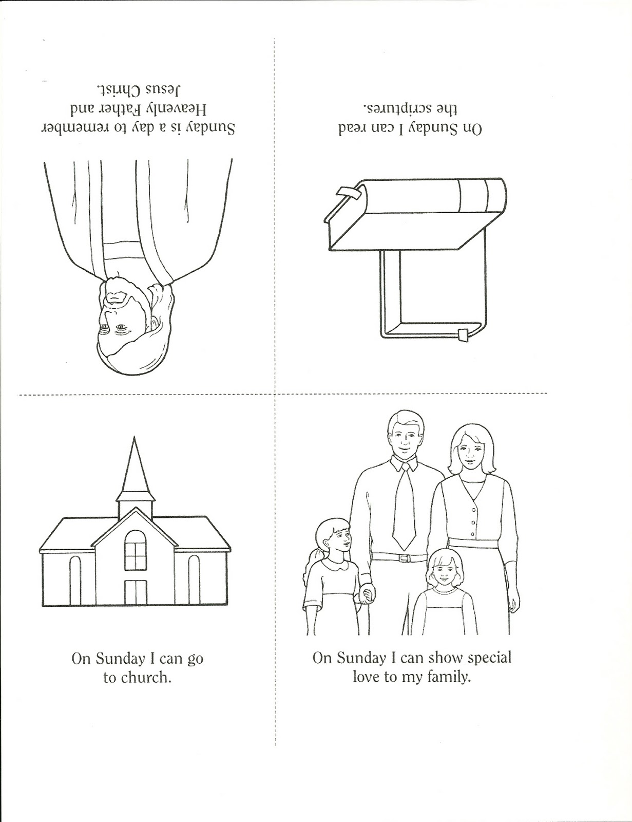 Keep The Sabbath Day Holy Coloring Page Coloring Pages