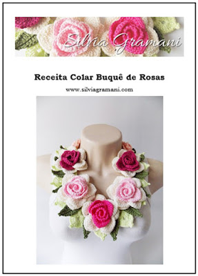 Receita Colar Buquê de Rosas PDF e Impressa