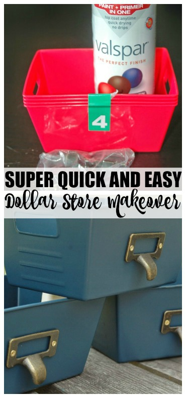 Quick and easy Dollar Store storage bins!