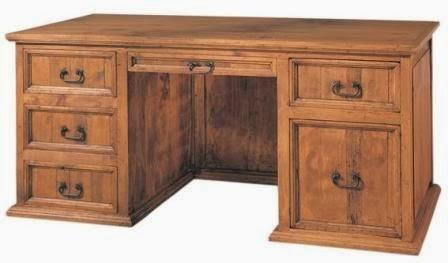 mesa despacho rustico, escritorio rustico