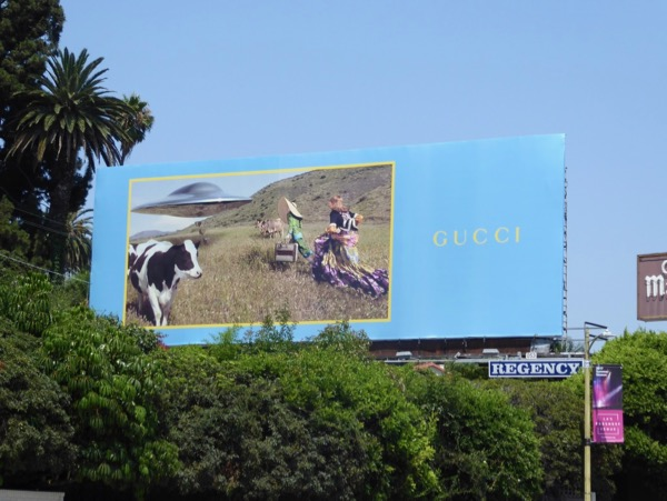 Gucci cows UFO Summer 2017 billboard