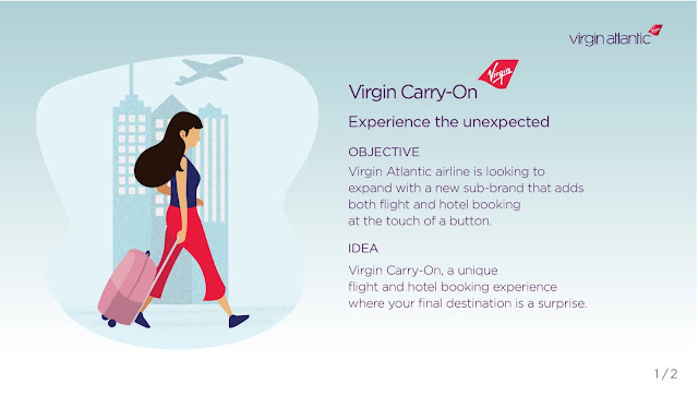 Fun Spec Ad by Katy Huang for Virgin Atlantic