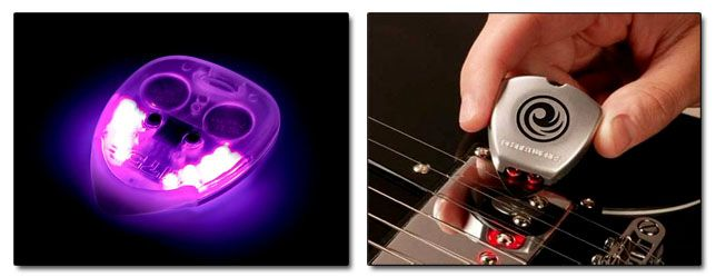 Púas de Guitarra con Luces y con Afinador Integrado