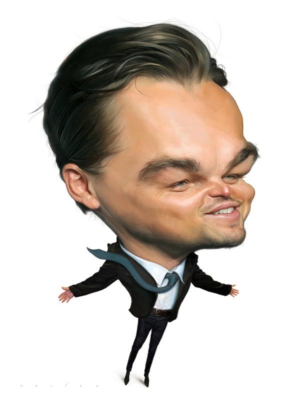Caricatura de famoso Leonardo Di Caprio