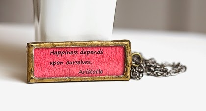 Happiness Depends Pendant Necklace