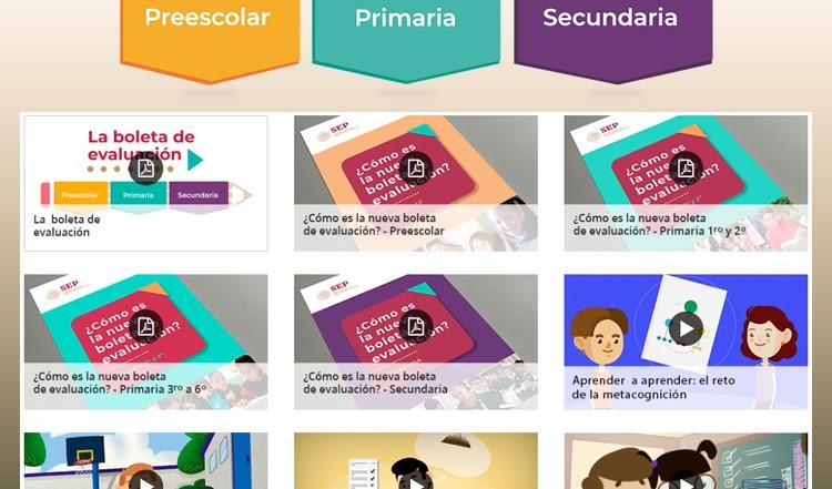 ¿Cómo son las nuevas boletas de evaluación? #Preescolar #Primaria y #Secundaria