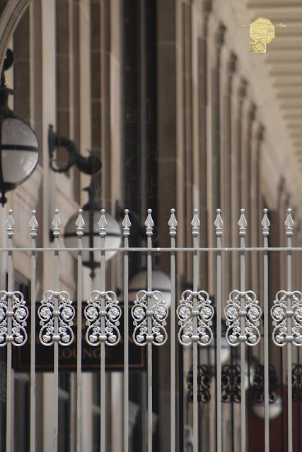 White Wrought Iron Gate In Chicago Fine Art Photography