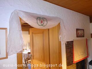 vintage brautparty bridal shower spitze, überschlaglaken, diy stuhlhussen, großmutters Bettwäsche, Blümchenporzellan, Spitzendeckchen, Handarbeit, Hochzeit, Stampin Up! Demonstratorin in Coburg, Gastgeschenke mit BigShot und Raffaello