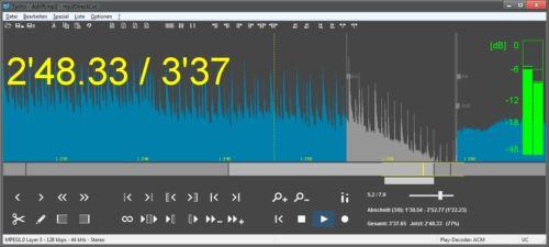 برنامج mp3DirectCut لتقطيع الاغاني MP3 - لقص وتقطيع الاغاني مجانا للكمبيوتر