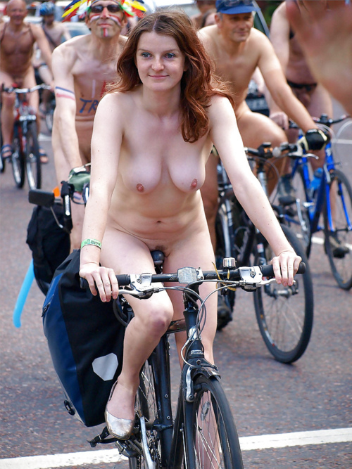 Nude Female Bikeriding 76