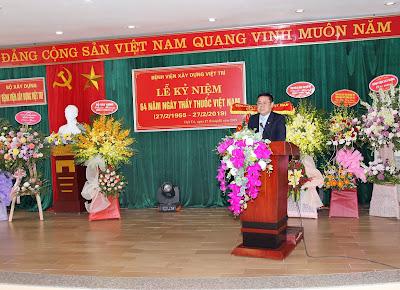 Ông Đỗ Hoàng Long, Bí thư Đảng ủy, Giám đốc Bệnh viện Xây dựng Việt Trì