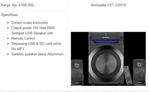 harga speaker simbadda cst 9900