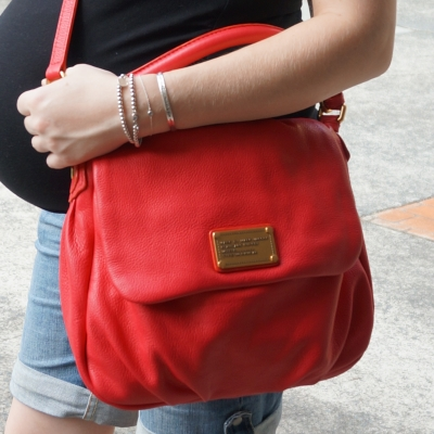 AwayFromTheBlue | Marc by Marc Jacobs Rock Lobster Red lil Ukita cross body bag denim shorts