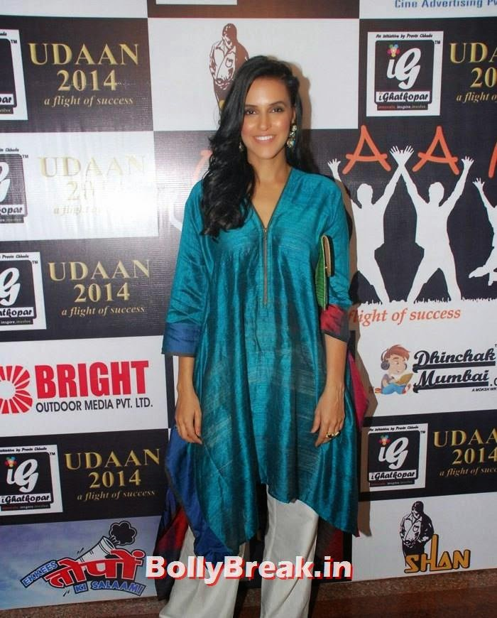 Neha Dhupia, Neha Dhupia pics from Ekkees Topon Ki Salaami movie promotions