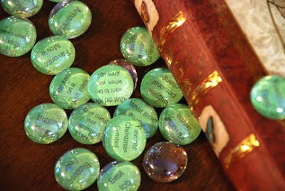 conversation stones game with pebbles