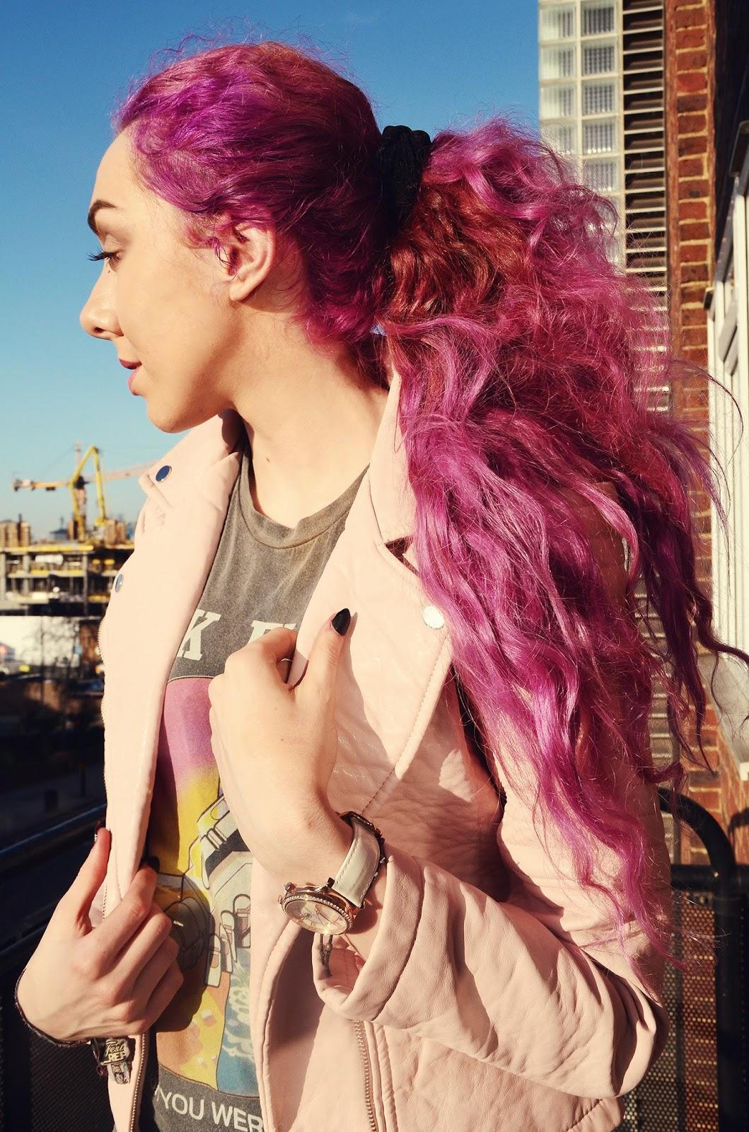 dark cerise pink hair