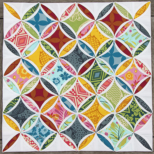 Mini Cathedral Windows Quilt Free Tutorial