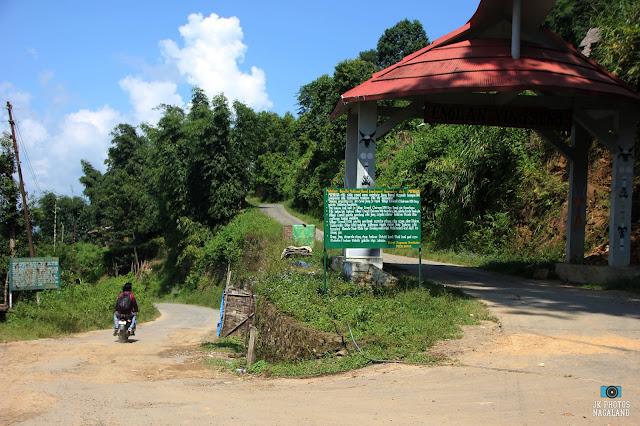 Rhyphim Village gate on the way to Doyang