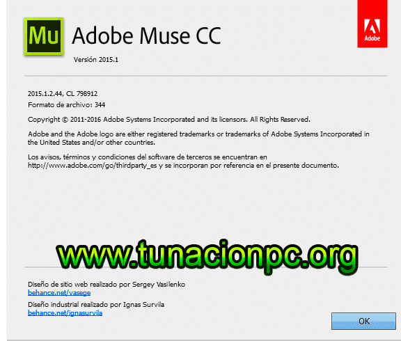 Adobe Muse CC 2015 para windows y macos