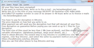 Arena CryptoMix ransom note