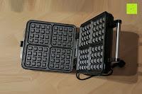 Boden unten: Waffeleisen Belgisch für 4 belgische Waffeln,XXL Waffelautomat,brüssler Doppel,Thermostat, stufenlose Temperatureinstellung, Backampel, Cool-Touch Griff