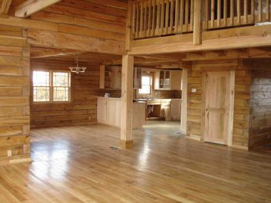 Gorgeous Log Home Wrap Around Deck