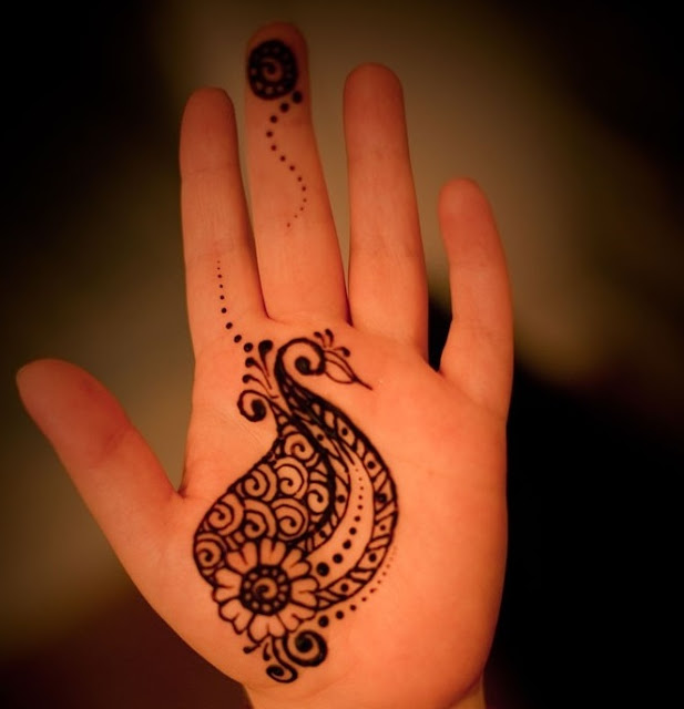 Best Simple peacock mehndi design 2016