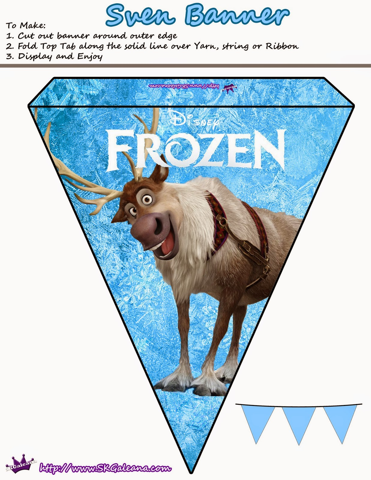 Frozen Pretty Free Printable Bunting Oh My Fiesta In