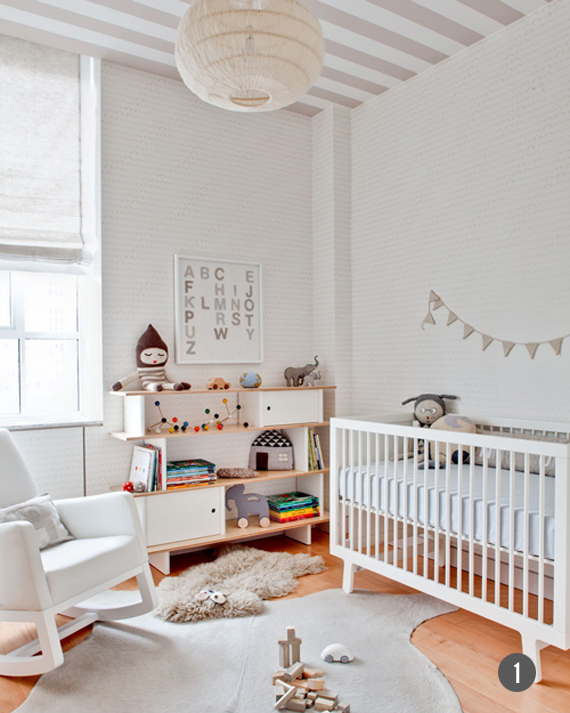 Simple, Modern Nurseries // Bubby and Bean