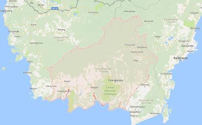 Peta Wilayah Provinsi Kalimantan Tengah