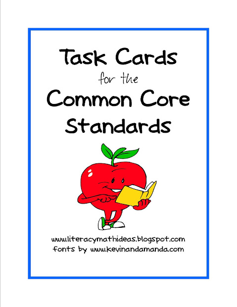 Literacy & Math Ideas Common Core Standards Task Cards