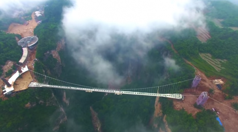 The World's Longest Glass-Floor Bridge In China Is Not For People With Acrophobia