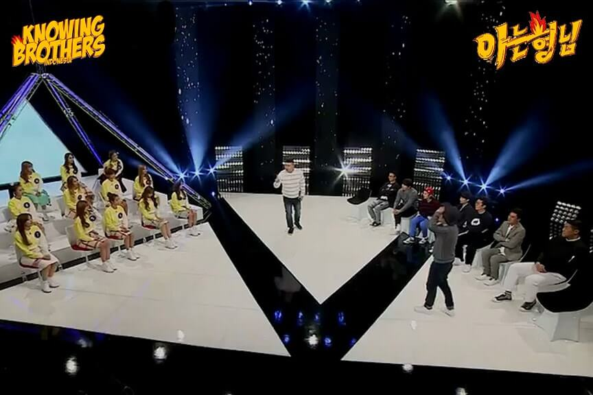 Nonton streaming online & download Knowing Brothers episode 16 bintang tamu Joo Young-hoon, Kim Su-ro & Cosmic Girls sub Indo