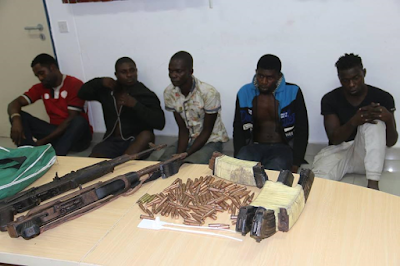 Rivers Rerun: Police arrest five suspects, recovers INEC materials, arms and ammunition (photos)