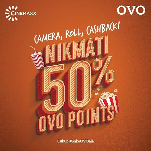 #OVO - #Promo Cashback 50% Tiket Nonton di CinemaXX Maks 30K (s.d 30 April 2019)
